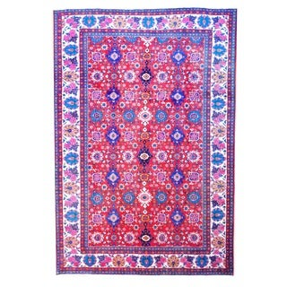 Herat Oriental Persian Hand-knotted 1960s Semi-antique Mahal Wool Rug (7'6 x 11')