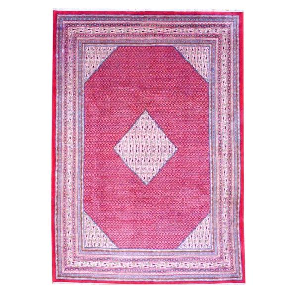 Handmade Herat Oriental Persian Mir Wool Rug - 8'2 x 11'8 (Iran)