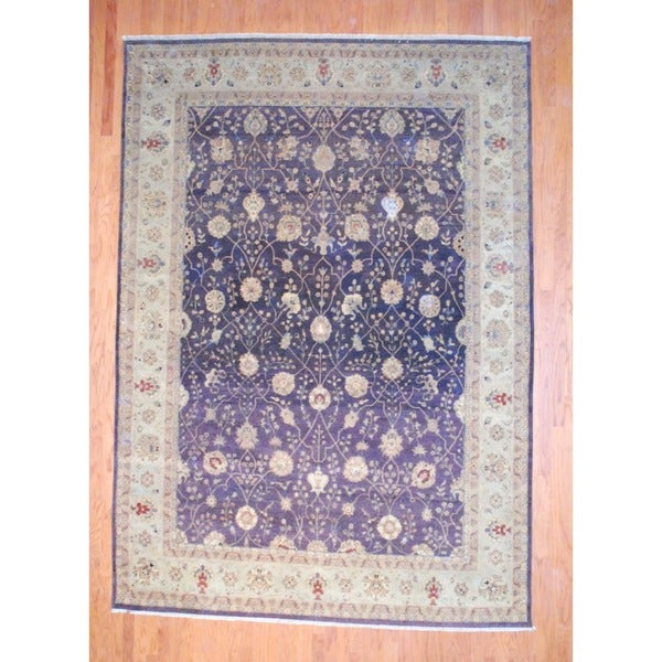 Herat Oriental Indo Hand-knotted Vegetable Dye Wool Rug - 8'7 x 12'