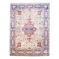 Handmade Herat Oriental Indo Tabriz Wool Rug  - 8'2 x 11' (India)