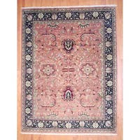 Herat Oriental Indo Hand-knotted Mahal Wool Rug (9' x 11'10) - 9' x 11'10