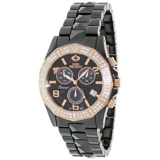 Swiss Precimax Women's Ceramic Luxe Elite Chronograph Watch