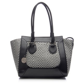 London Fog Bedford Straw Tote Bag