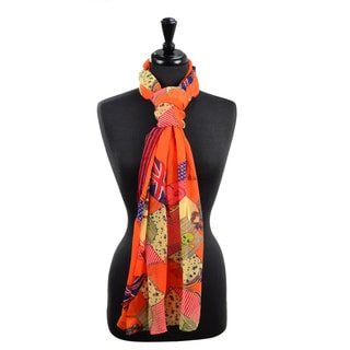 LA77 Women's Skull and Flags Scarf
