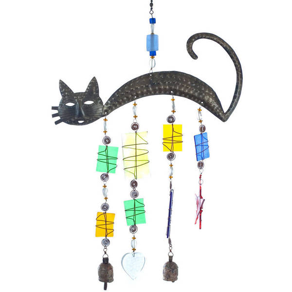 Handmade Cat's Meow Wind Chime (India)