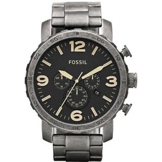 Fossil Men's JR1388 Nate Black Chronograph Watch