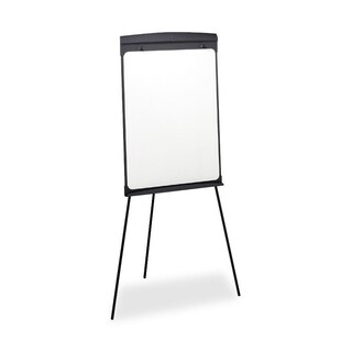 27 x 35 Standing Tripod Easel Magnetic Graphite Whiteboard with Flip-chart Retainer