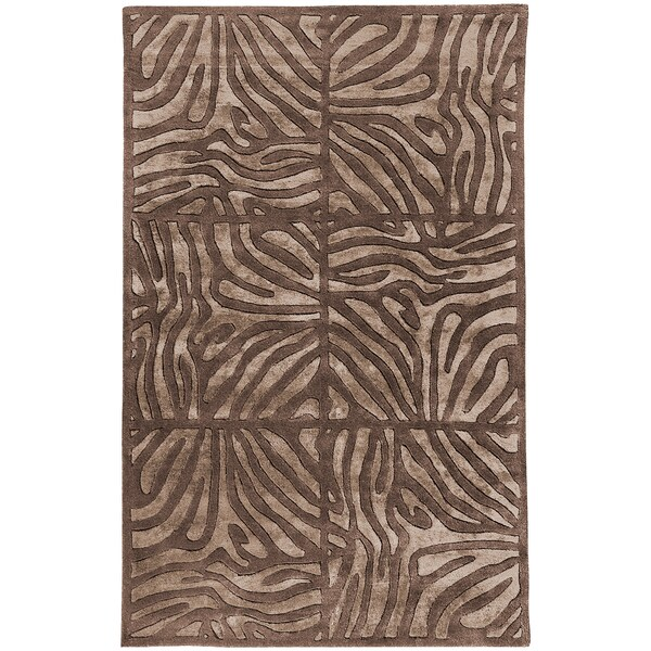 Candice Olson Hand-tufted Zebra Animal Print Berkmeer Wool Rug (2' x 3')