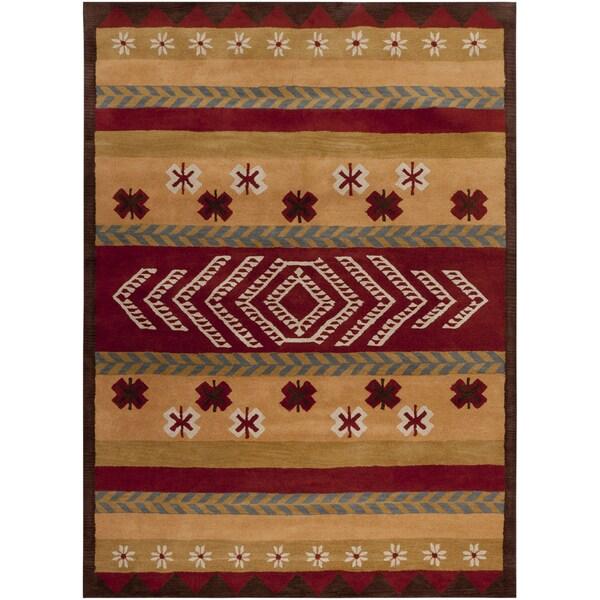 Hand-tufted Abbenes Multi Wool Rug (8' x 11')
