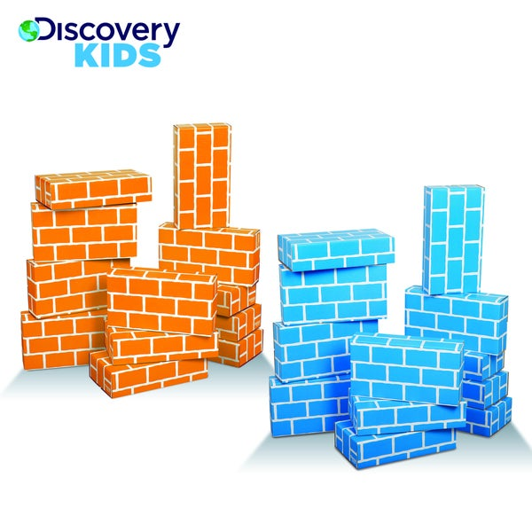 Discovery Kids Eco-Friendly Cardboard Building Blocks