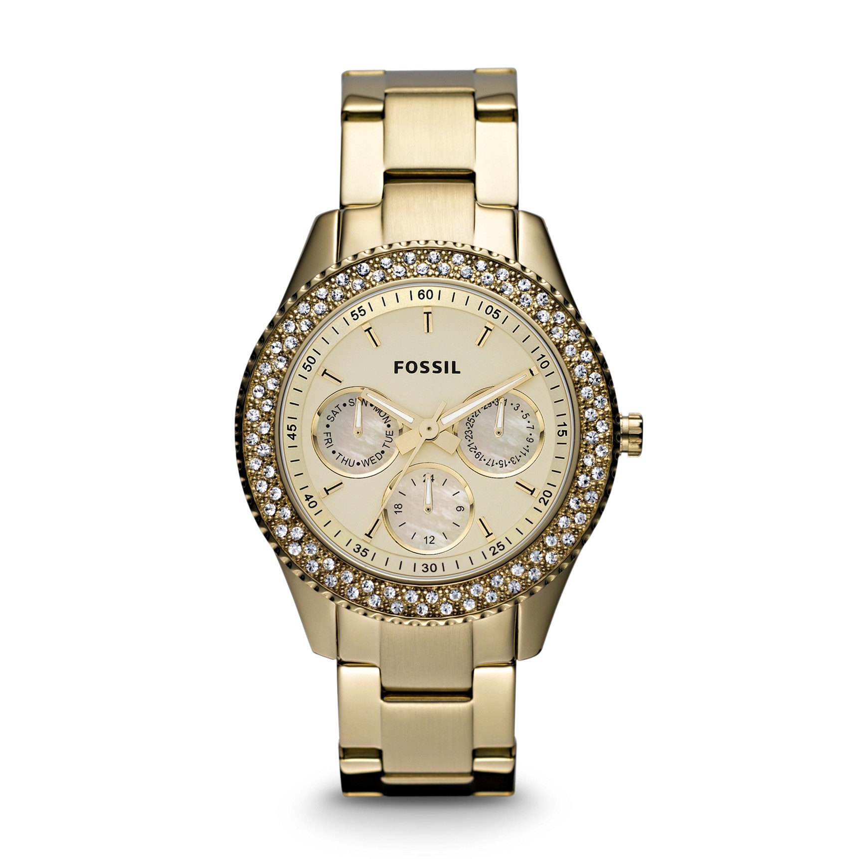 Fossil s Women's ES3101 Stella Gold-tone Stainless Steel ...