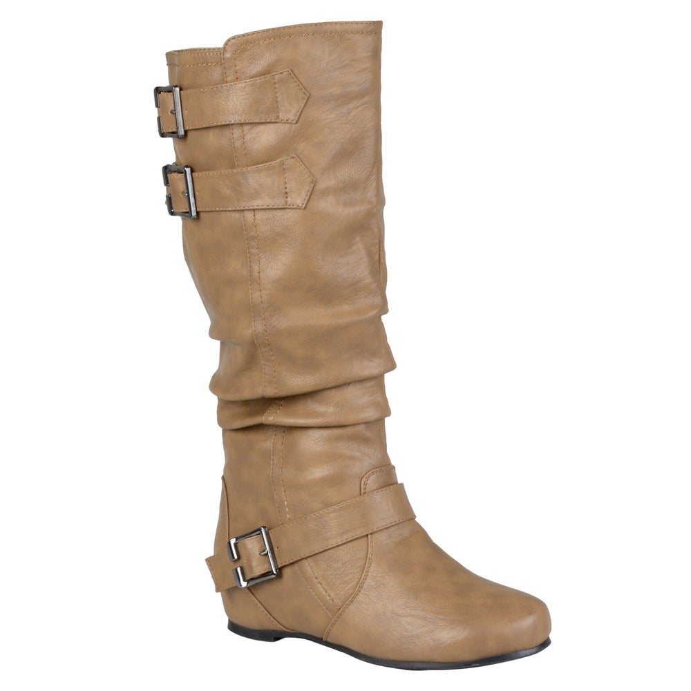 Evalyn Girls Low Heel Flat Buckle Detail Triple Strap Zip Up Combat Ankle Boots