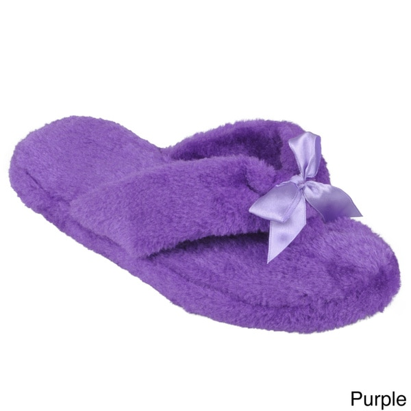 Journee Collection Womens Fleece Lined Flip Flop Slippers