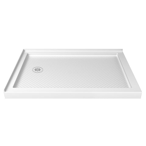 "DreamLine SlimLine 34 in. D x 48 in. W x 2 3/4 in. H Double Threshold Shower Base - 34"" x 48"""