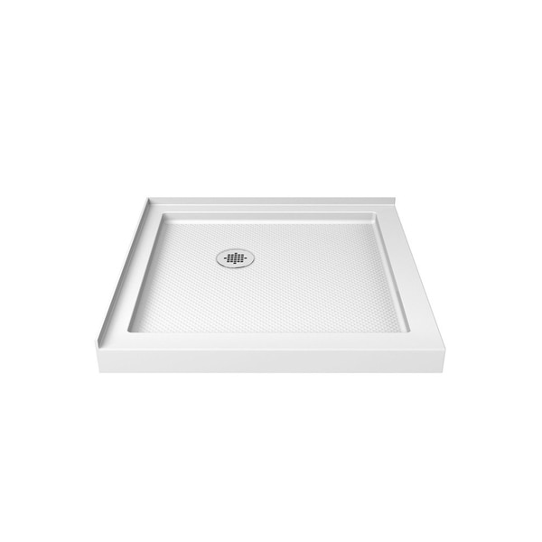 "DreamLine SlimLine 36 in. D x 36 in. W x 2 3/4 in. H Double Threshold Shower Base - 36"" x 36"""