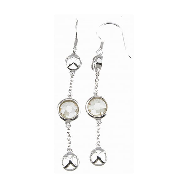 Plutus Sterling Silver Simulated Citrine Dangle Earrings