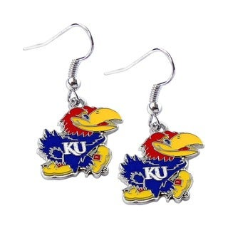 NCAA Kansas Jayhawks Dangle Logo Earring Set Charm Gift