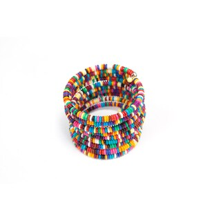 Handmade Slinky Beaded Bracelet (India)