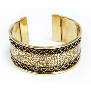 Handmade Copper and Brass Cuff (India)