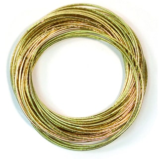 Handmade Brass Ripple Bangles (India)
