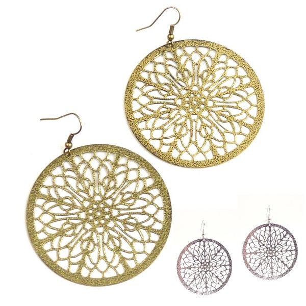 Pretty Little Style Goldtone Filigree Dangle Earrings
