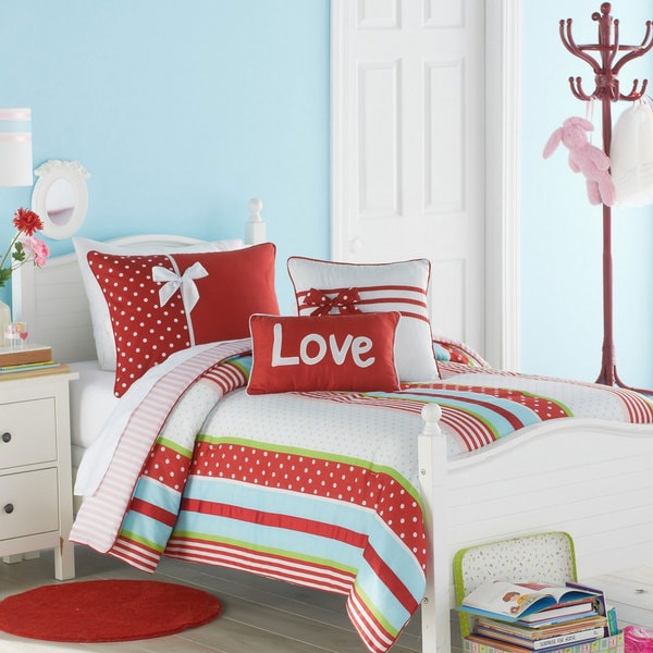 VCNY Big Believers American Sweetheart 3-piece Comforter Set