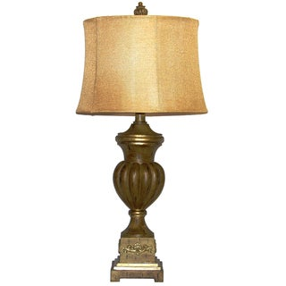 Crown Lighting 1-light Faux Walnut Traditional Table Lamp
