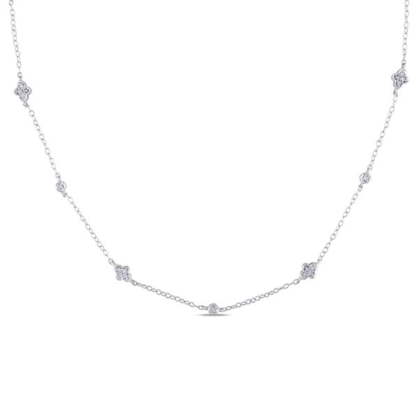 Sterling Silver 1/5ct TDW Diamond Necklace