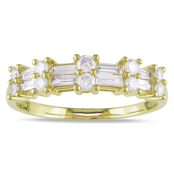Miadora 10k Yellow Gold 1/2ct Diamond Ring