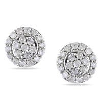 Miadora Sterling Silver 1/2ct TDW Diamond Stud Earrings