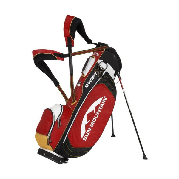 Sun Mountain Swift X White/ Red/ Black Golf Stand Bag