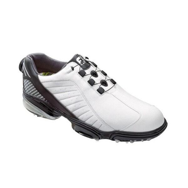 footjoy s fj sport white black silver golf shoes