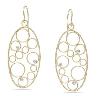 Miadora 14k Yellow Gold 1/8ct TDW Diamond Earrings (G-H, SI1-SI2)