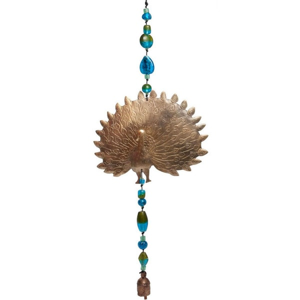 Handmade Picasso Peacock Wind Chime (India)
