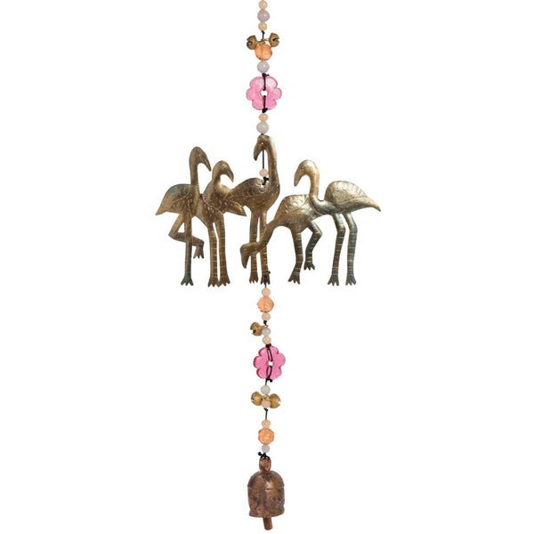 Handmade Flamingos on Parade Wind Chime (India)