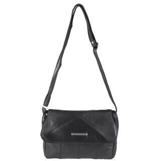 Journee Collection Women's Leather Crossbody Handbag