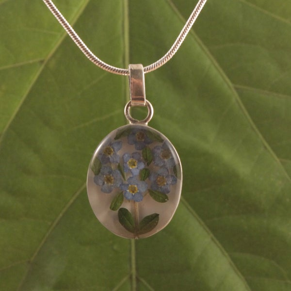 Sterling Silver Forget Me Not Necklace (Mexico)