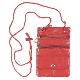 Boston Traveler Leather Multi-pocket Neck ID Holder