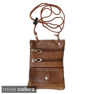 Boston Traveler Leather Multi-pocket Neck ID Holder