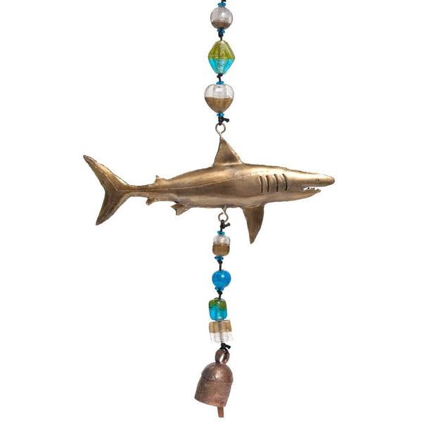 Handmade Top of the Food Chain Shark Wind Chime (India)