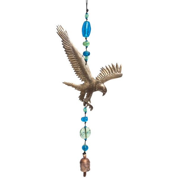Handmade Fly Like An Eagle Wind Chime (India)