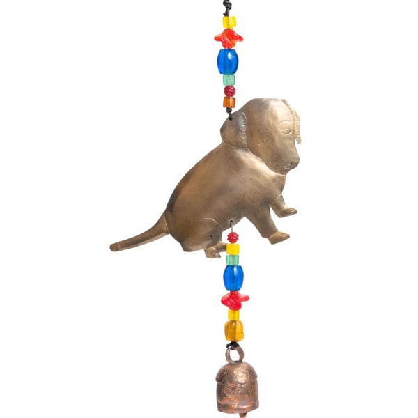 Handmade Puppy Love Wind Chime (India)