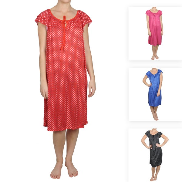 Journee Collection Women's Contemporary Plus Polka-dot House Dress