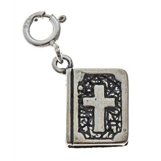 Sterling Silver Bible Charm