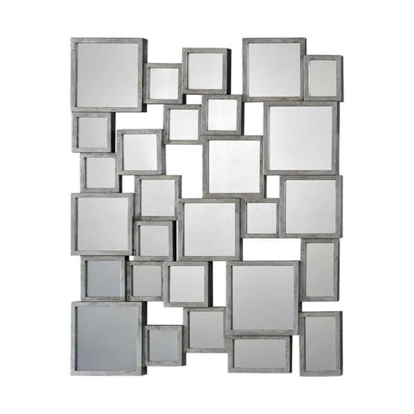 Ren Wil 'Stafford' Silver Metal Small Mirror