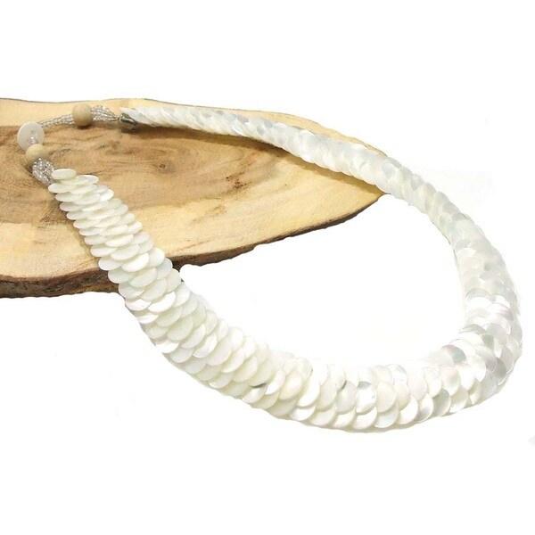 Infinity Layered White Troca Seashells Handmade Necklace (Philippines)