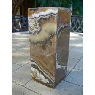 Square Marbled Alabaster Vase (Egypt)