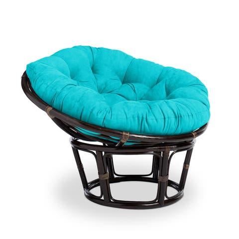 International Caravan Bali 42-inch Papasan Chair with Plush Cushion