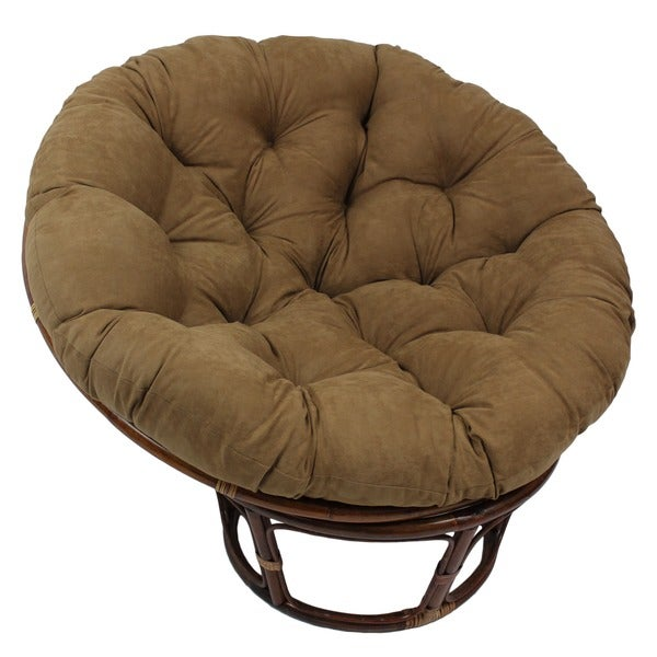 Wicker Swivel Rocker International Caravan Bali 42-Inch Rattan Papasan Chair ...