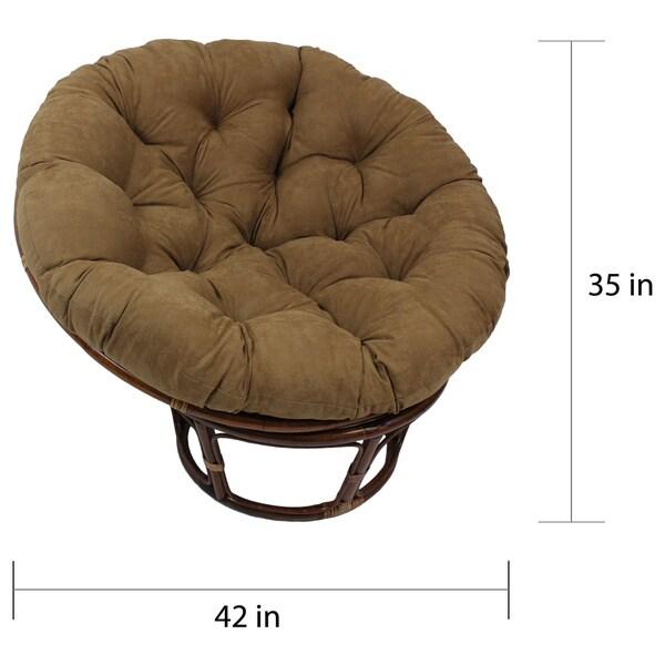 International Caravan Bali 42 Inch Rattan Papasan Chair With Cushion   Free  Shipping Today   Overstock.com   14942087